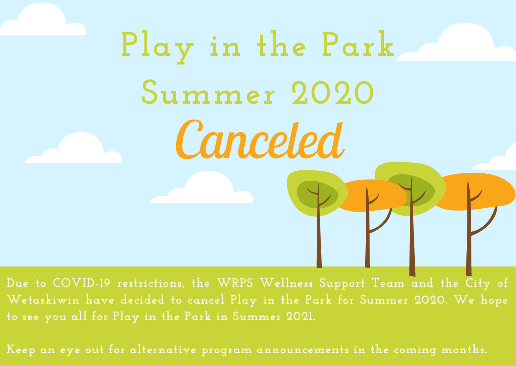 PiP Announcement - Cancelled Summer 2020